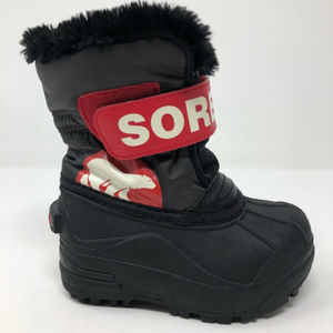 Sorel Kids Snow Boots 7 Toddler Commander Boys NEW